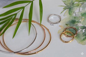 Jungle Sacrée Rigid Bracelet - diamonds - 9 carat white gold