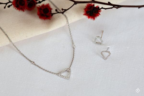 Pendientes Abundancia - Diamantra - oro blanco de 18 quilates y diamantes