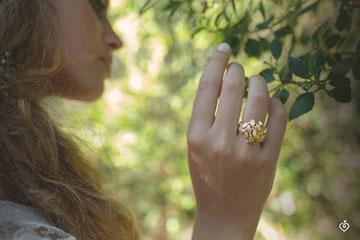 Ring Enchanted Garden - Precious Dew yellow gold
