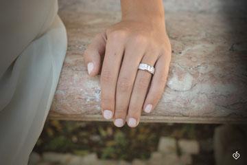Ring Constellation - Trilogy paved white gold - 0.509 carat - 57 diamonds
