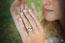 Solitaire Nid Précieux - Ondine - diamant 0.4 carat - or blanc 18 carats