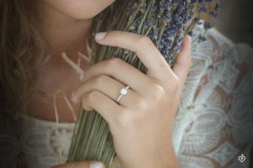 Ring Royal reed paved sphere - 0.12 carat