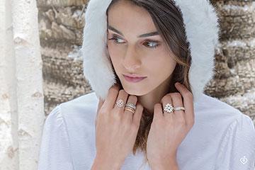 Destiny Ring - Little Empress - 71 diamonds - white gold 18 carats