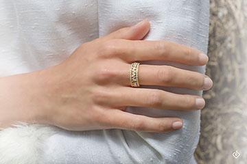 Ring Destiny - Empress - yellow gold diamonds - 0.85 carat