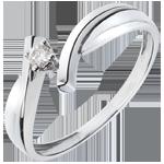 خاتم سوليتيرالعش الثمين جوپيتير ـ ذهب أبيض عيار 18 قيراط ـ 0.05 قيراط من الألماس