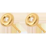أقراط كاليس ألماس ـ الذهب الأصفر 18 قيراط