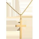صليب مسطح ـ من الذهب الأصفر 18 قيراط