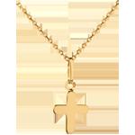 صليب موديرن ـ من الذهب الأصفر 18 قيراط
