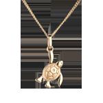قلادة معلقة صغير السلحفاة ـ موديل صغير ـ من الذهب الأصفر 18 قيراط