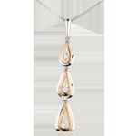 قلادة معلقة قطرة الندى ڢارياسيون من الذهب الأبيض و الوردي 18 قيراط