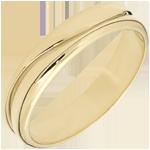 خاتم الحب ـ خاتم زواج للرجال من الذهب الأصفر 18 قيراط