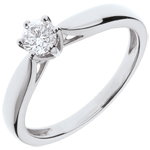 women 18K White Gold Roseau Solitaire 6 prong diamond