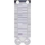Boucles d'oreilles - Pendule Divine - or blanc 9 carats et diamants