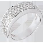 Verk�ufe Ring Sternbilder - Himmelsk�rper Ver�nderung - Wei�gold - 0.72 Karat