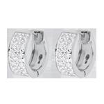 Online Verkauf Ohrringe Sternbilder - Himmelskörper Veränderung - Großes Modell - Weißgold - 0.2 Karat - 20 Diamanten