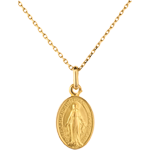 Medaglia Madonna del Miracolo - Oro giallo - 18 carati