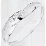 bijouteries Bague Trilogie Nid Pr�cieux - Baiser D'Amour - or blanc - 18 carats