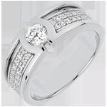 femme Bague de fian�ailles Constellation - Diamant Solitaire - diamant 0.35 carat