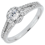 Bague de Fian�ailles Destin�e - Jos�phine - diamant 0.3 carat
