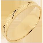 Alianza Frescura - Ramas de Olivo Grabado - oro amarillo 18 quilates