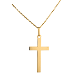 Plat Kruis - 18 karaat geelgoud