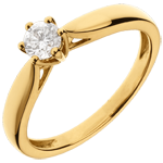 18K Yellow Gold Roseau Solitaire 6 prong diamond