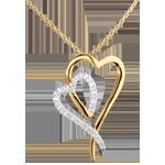 Naszyjnik Refleks - 17 diamentów - złoto białe i złoto żółte 18-karatowe