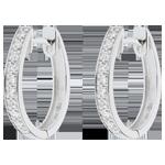 Kolczyki Pierścienie Wenus - złoto białe 18-karatowe