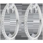 Kolczyki w kształcie koła Pierścienie Wenus z białego złota 18-karatowego