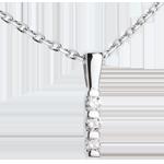 cadeaux Pendentif totem trilogie  - or blanc  - 0.12 carat
