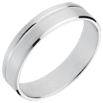 Fede nuziale - Principe - Oro bianco - 18 carati