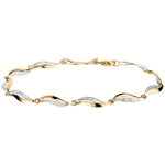 cadeau femmes Bracelet Torsade or jaune - 22 diamants