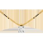 Diamantcollier Solitär in Gelbgold