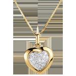 Pendentif Sweet Heart Jaune - 18 diamants - or jaune 18 carats