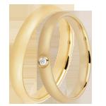 cadeau Duo d'alliances Dune 1 diamant