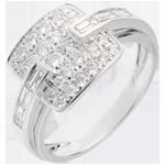 Geschenk Frau Ring Riad in Weissgold - 0.82 Karat - 32 Diamanten