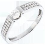 Geschenk Frauen Solit�r Arche in Weissgold - 0.38 Karat - 29 Diamanten