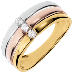 Anillo Triolog�a Trinidad - 3 oros - 3 diamantes