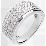 Frau Ring Sternbilder - Himmelskörper - Großes Modell - Weißgold - 1.01 Karat - 56 Diamanten