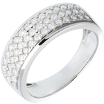 Geschenk Ring Sternbilder - Himmelsk�rper - Kleines Modell - Wei�gold - 0.63 Karat - 45 Diamanten