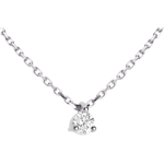 vente on line Collier solitaire or blanc  - 0.11 carat