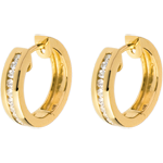 Creolen in Gelbgold - 0.24 Karat - 22 Diamanten