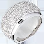 cadeaux femmes Bague Constellation - Paysage Céleste - or blanc pavé - 2.05 carats - 79 diamants