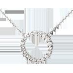 Geschenk Frau Collier Firmament in Weissgold - 0.75 Karat - 19 Diamanten