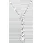 joaillerie Collier Flocons or blanc et diamants