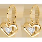 Yellow Gold and Diamond My Love Earrings