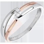 bijoux or Bague Solitaire Nid Pr�cieux - Matin - or rose - 0.10 carat - 18 carats