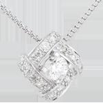 cadeau femme Collier Destin�e - Princesse Perse - or blanc et diamants