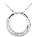 bijou or Collier Lady or blanc et diamants