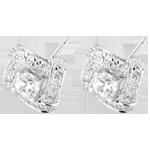 Pendientes Destino - Princesa Persa - oro blanco 18 quilates y diamantes